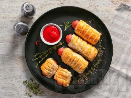 Наденички в бутер тесто - снимка на рецептата